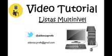 Listas Multinivel en Word