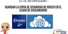 Guardar copia de seguridad de iDoceo en Cloud de EducaMadrid