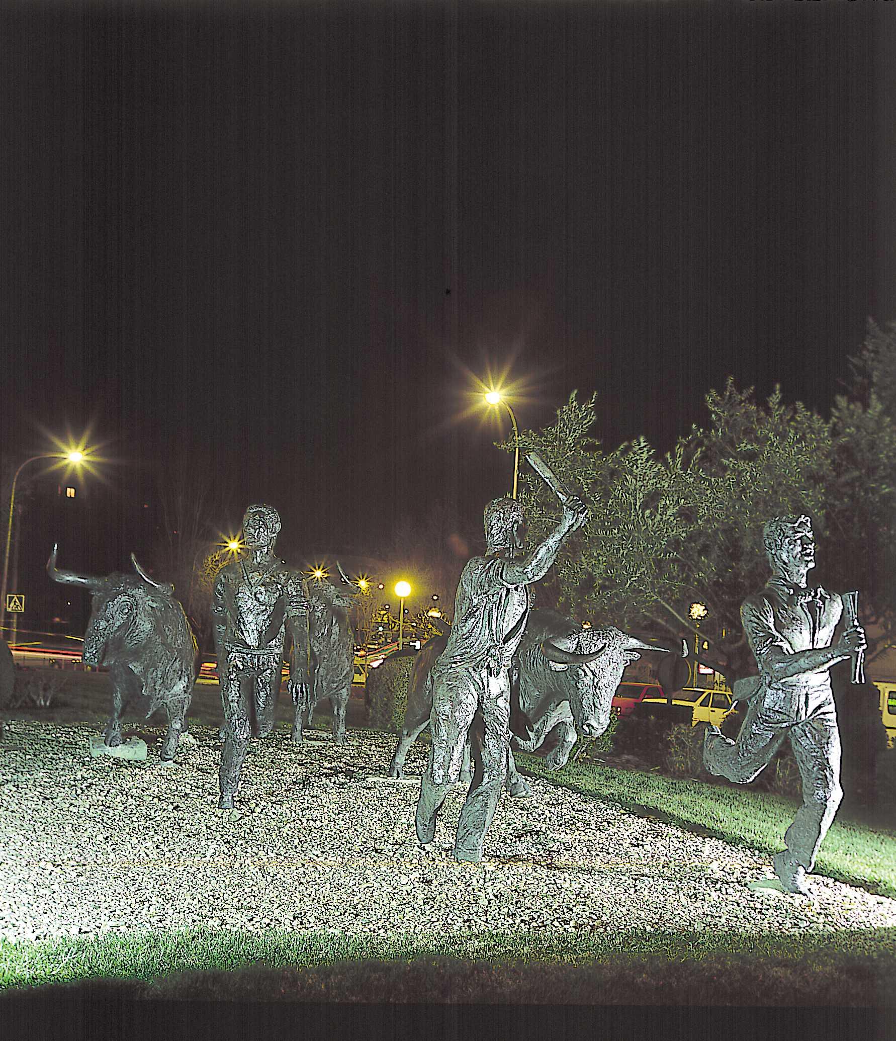 Monumento a los encierros en San Sebastián de los Reyes