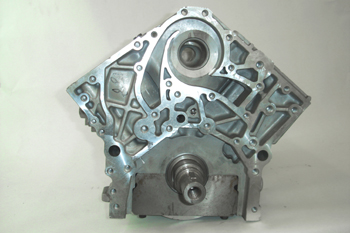 Bloque de 6 cilindros en V.  Vista frontal