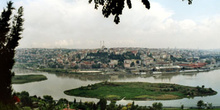 Vistas desde el café Pierre Loti, Estambul, Turquía
