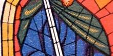 Detalle de una vidriera de la Catedral de León