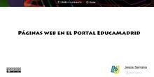 Páginas web en EducaMadrid