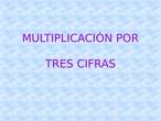 Multiplicación por tres cifras