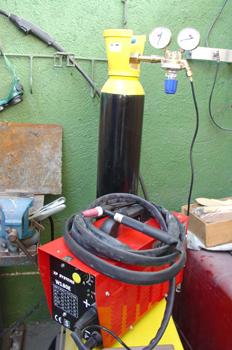 Equipo de Soldadura Electrica con gas