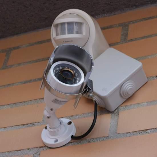 Cámara CCTV infrarrojos instalada