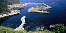 Vista general del puerto de Cudillero, Principado de Asturias