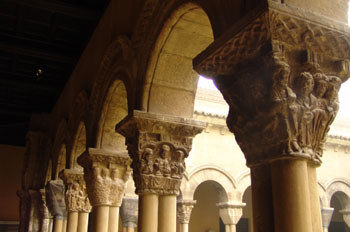 Capiteles del claustro de la Catedral de Tudela, Navarra
