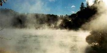 Lago Fry Pan, de origen volcánico, Parque Waimangu