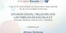 Difusión social /relación con las familias en Escuela 2.0
