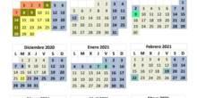 Calendario Escolar curso 2020-21