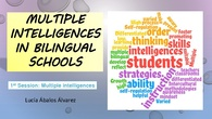 1. Multilple intelligences. Teacher tranining course 2018