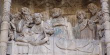 Detalle de la fachada de la Basílica de Santa María, Pontevedra,