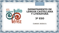 Presentación de Inicio de Curso - Lengua - 3º ESO