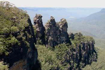 Las Tres Hermanas en las Montañas Azules, Australia
