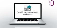 Justificar y comunicar ausencias en ROBLE
