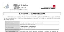 ELECCIONES AL CONSEJO ESCOLAR IES MARÍA DE MOLINA 2018