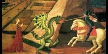 """San Jorge, el dragón y la princesa.<span class=""""educational"""" title=""""Contenido educativo""""><span class=""""sr-av""""> - Contenido educativo</span></span>"""