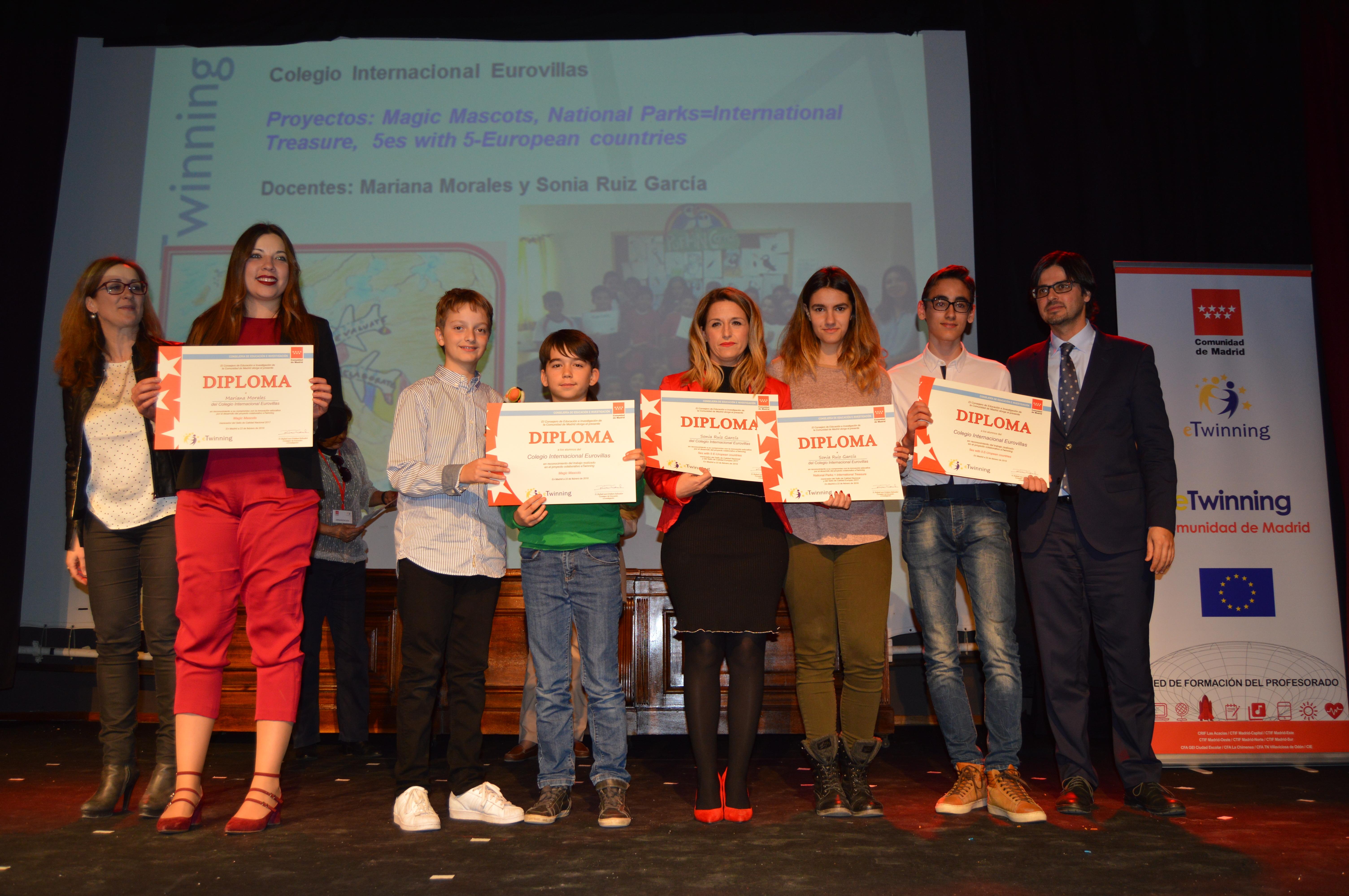 Entrega diplomas II Edición Reconocimiento Sellos de Calidad eTwinning Comunidad de Madrid 8