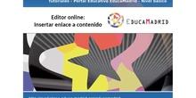 Editor online: insertar/editar enlace a contenido
