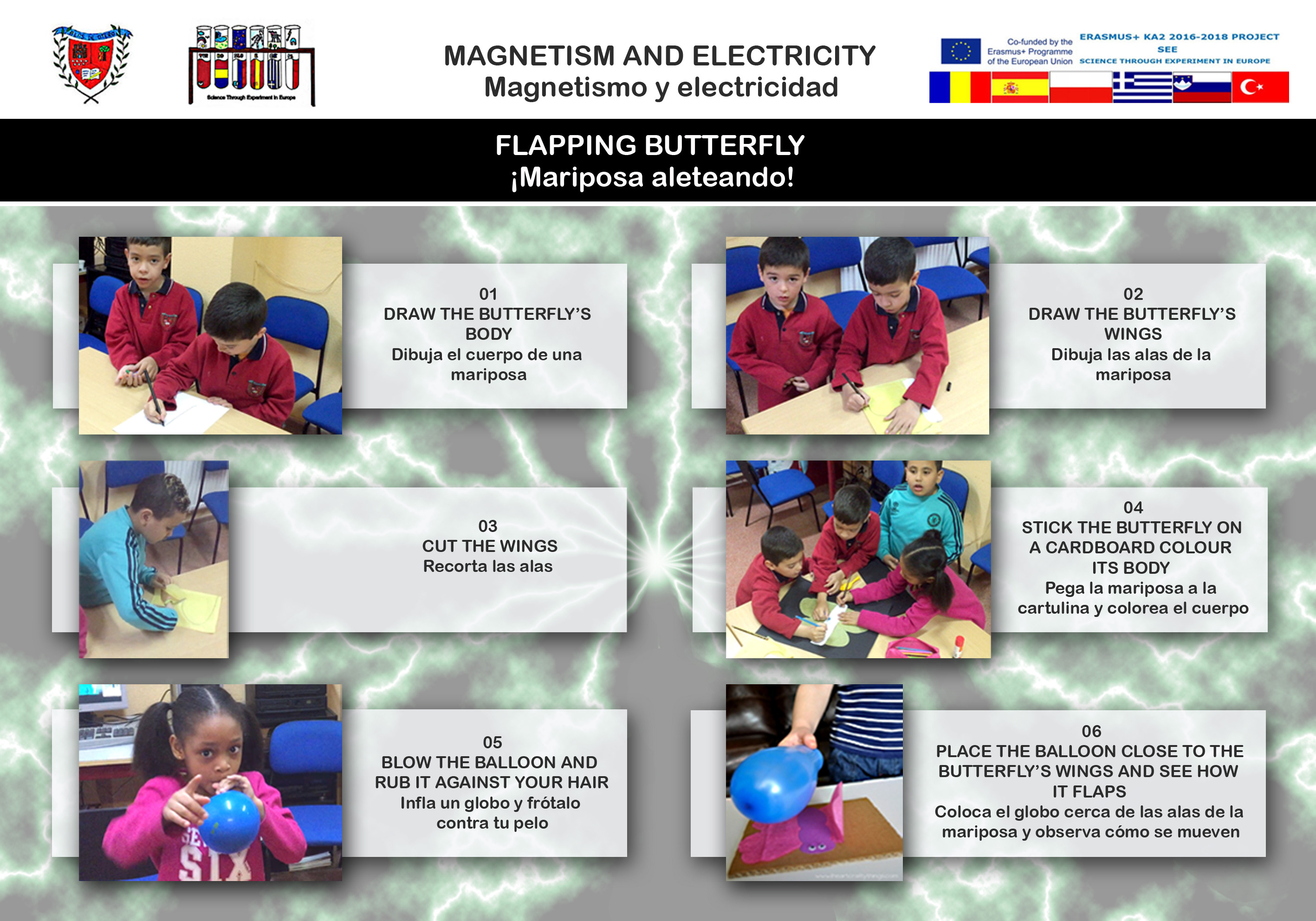 Magnetism and electricity experiment 03 Flapping butterfly