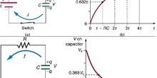 Time constant charging and discharging capacitors