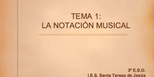 Historia de la Música. Tema 1- Notación musical