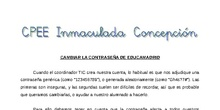 Tutorial - EducaMadrid: cambiar la contraseña