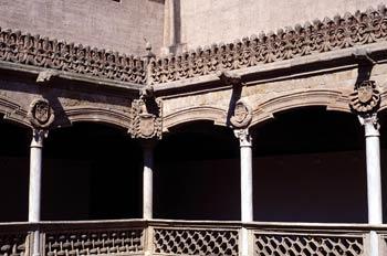 Patio interior de la Casa de las Conchas, Salamanca