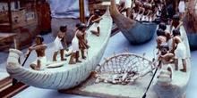 Representación de escena de pesca, Egipto