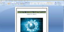 1º ESO / Tema 3 ->  Proyecto de electricidad - Explicación de la memoria de Word