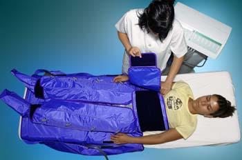 Presoterapia: colocación de complemento en abdomen