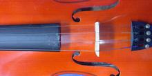 Detalle de la caja de un violín