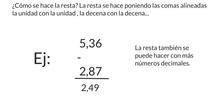 PRIMARIA - 6º - RESTAR NÚMEROS DECIMALES - MATEMÁTICAS