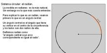 Trigonometría: 6.Radián
