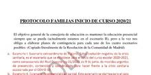PROTOCOLO INICIO DE CURSO FAMILIAS