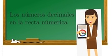 PRIMARIA - 6º - LOS NÚMEROS DECIMALES EN LA RECTA NUMÉRICA - MATEMÁTICAS