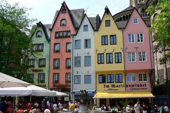Fachadas de colores en Colonia, Alemania