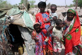 Población Affar de la región de Obock, Rep. de Djibouti, áfrica