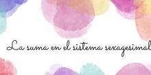 PRIMARIA- 6º - MATEMÁTICAS- LA SUMA EN EL SISTEMA SEXAGESIMAL- FORMACIÓN