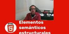 HTML - Elementos Semánticos Estructurales