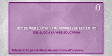 Curso Wordpress básico. Tutorial 2. El panel lateral del escritorio