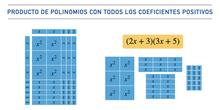 Producto de polinomios de coeficientes positivos usando baldosas