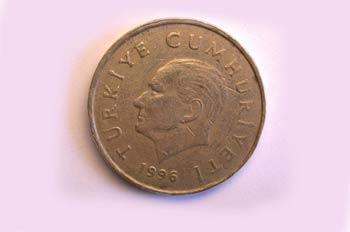 Moneda de cincuenta liras, cara, Turquía