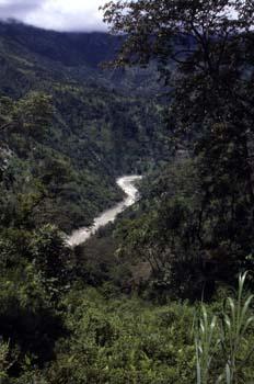 Vista del valle de Ranipool, Sikkim, India