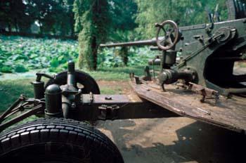 Detalle de un carro de combate