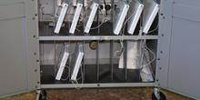 Ordenadores portátiles recargando