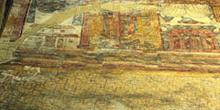 Fragmento de la pintura del transepto de San Julián de los Prado