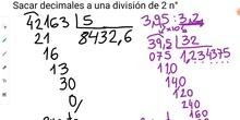 Sacar decimales a una división de dos números naturales