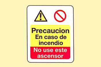 Incendio: precaución en caso de incendios